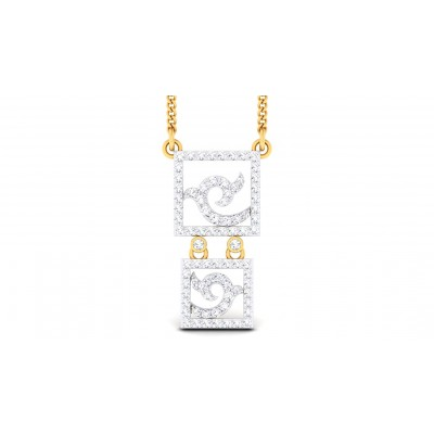 CHERYL DIAMOND FASHION PENDANT in 18K Gold