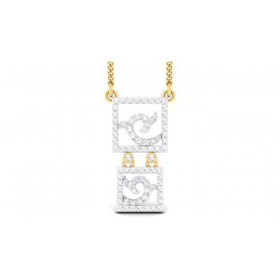 CHERYL DIAMOND FASHION PENDANT in 18K Gold