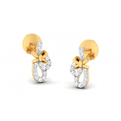EZRA DIAMOND STUDS EARRINGS in 18K Gold