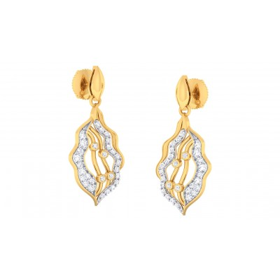 AVRIL DIAMOND DROPS EARRINGS in 18K Gold