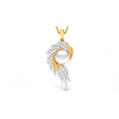 ANGIE DIAMOND FLORAL PENDANT in 18K Gold