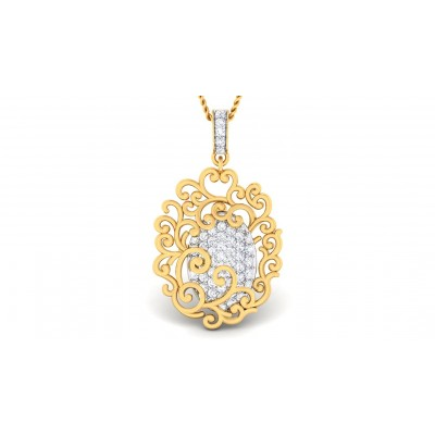 ASTHA DIAMOND FASHION PENDANT in 18K Gold