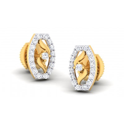 TORI DIAMOND STUDS EARRINGS in 18K Gold