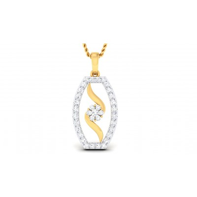 LINDSAY DIAMOND FASHION PENDANT in 18K Gold