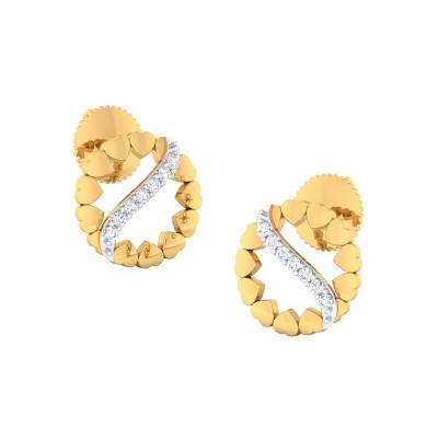 PARIDHI DIAMOND STUDS EARRINGS in 18K Gold