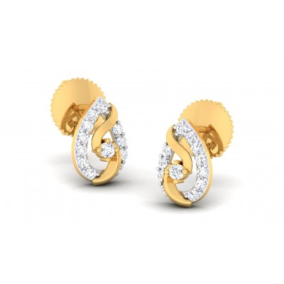 MITHRA DIAMOND STUDS EARRINGS in 18K Gold