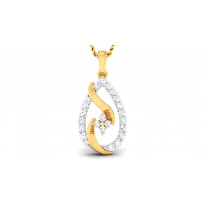 TRIPURI DIAMOND FASHION PENDANT in 18K Gold