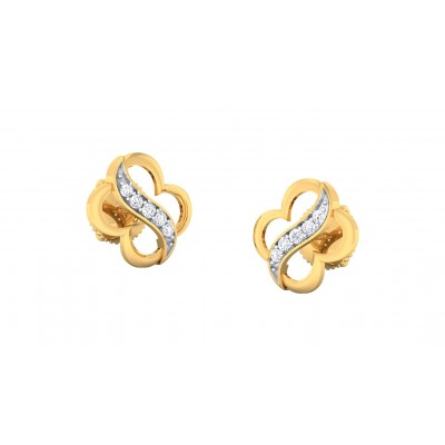 ASHA DIAMOND STUDS EARRINGS in 18K Gold