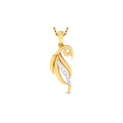 VISHWA DIAMOND FASHION PENDANT in 18K Gold
