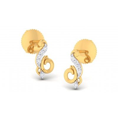 LEANA DIAMOND DROPS EARRINGS in 18K Gold