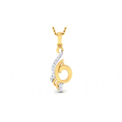 KUNTALA DIAMOND FASHION PENDANT in 18K Gold
