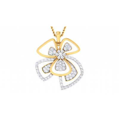 NIYA DIAMOND FLORAL PENDANT in 18K Gold