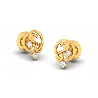 ALIYAH DIAMOND STUDS EARRINGS in 18K Gold