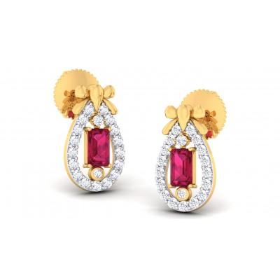 SAMALI DIAMOND DROPS EARRINGS in Topaz & 18K Gold