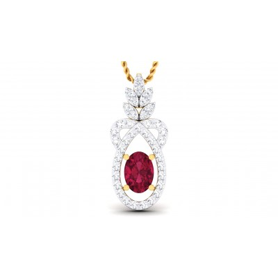 ARLENE DIAMOND FASHION PENDANT in Ruby & 18K Gold