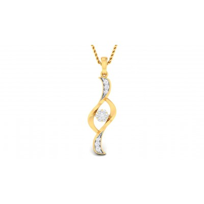 DALILAH DIAMOND FASHION PENDANT in 18K Gold