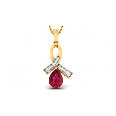 ANJALI DIAMOND FASHION PENDANT in Ruby & 18K Gold