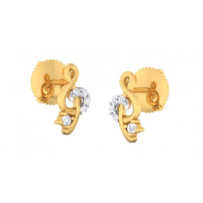 CHAHNA DIAMOND STUDS EARRINGS in 18K Gold