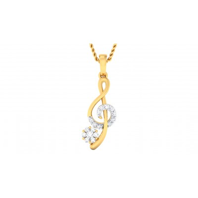 NIROSHA DIAMOND FASHION PENDANT in 18K Gold
