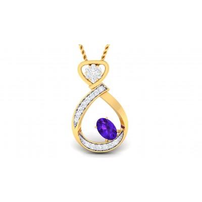 ZUHA DIAMOND FASHION PENDANT in Sapphire & 18K Gold