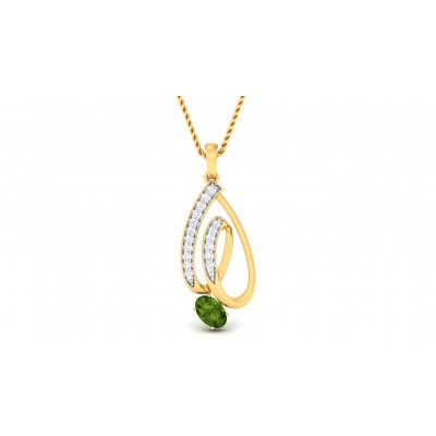 SHAYLA DIAMOND FASHION PENDANT in Emerald & 18K Gold