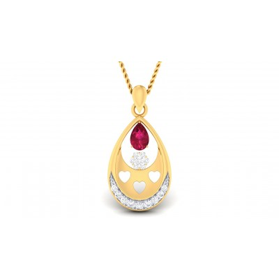 RATNALI DIAMOND FASHION PENDANT in Ruby & 18K Gold