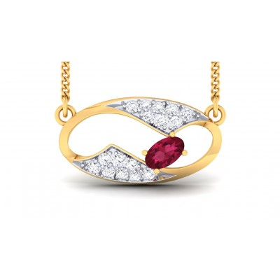 TATIANA DIAMOND FASHION PENDANT in Ruby & 18K Gold