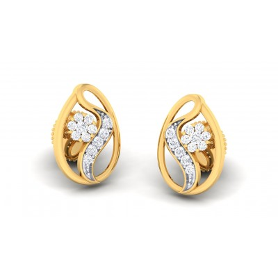 RANGANA DIAMOND STUDS EARRINGS in 18K Gold
