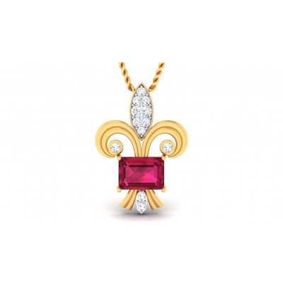 ALEXIA DIAMOND FASHION PENDANT in Ruby & 18K Gold