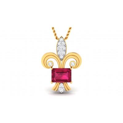 ALEXIA DIAMOND FASHION PENDANT in Ruby & 18K Gold