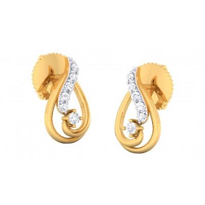 CHARLEY DIAMOND DROPS EARRINGS in 18K Gold