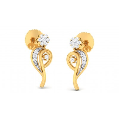 ANANDA DIAMOND DROPS EARRINGS in 18K Gold