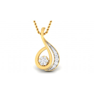 CARLA DIAMOND FASHION PENDANT in 18K Gold