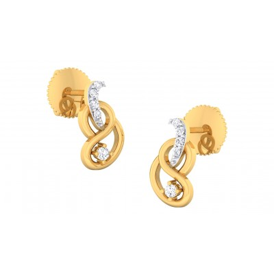 SHARON DIAMOND STUDS EARRINGS in 18K Gold