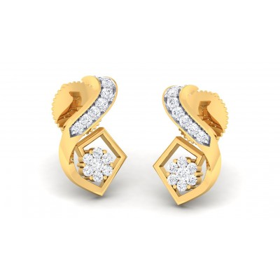 AUDRA DIAMOND STUDS EARRINGS in 18K Gold
