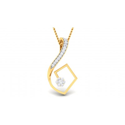 SARASI DIAMOND FASHION PENDANT in 18K Gold
