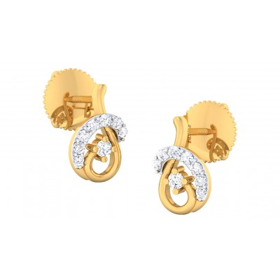 BAKA DIAMOND STUDS EARRINGS in 18K Gold