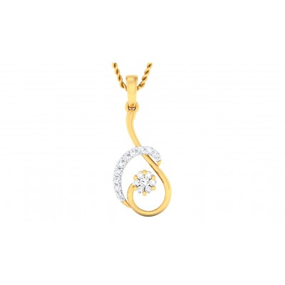 TIYA DIAMOND FASHION PENDANT in 18K Gold