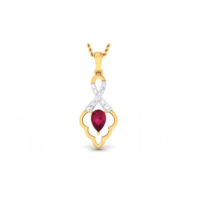 AMINAH DIAMOND FASHION PENDANT in Ruby & 18K Gold