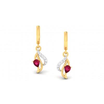 ANAIYA DIAMOND DROPS EARRINGS in Ruby & 18K Gold