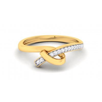 VIVIAN DIAMOND CASUAL RING in 18K Gold