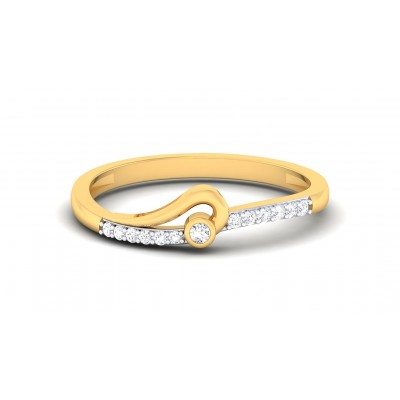 TAPTI DIAMOND CASUAL RING in 18K Gold