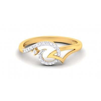 REBECA DIAMOND CASUAL RING in 18K Gold