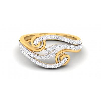 DENISE DIAMOND COCKTAIL RING in 18K Gold