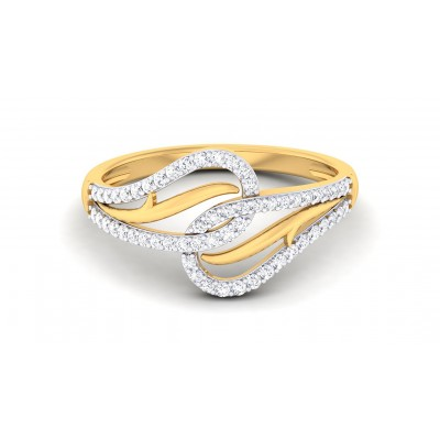 AMRUTHA DIAMOND CASUAL RING in 18K Gold