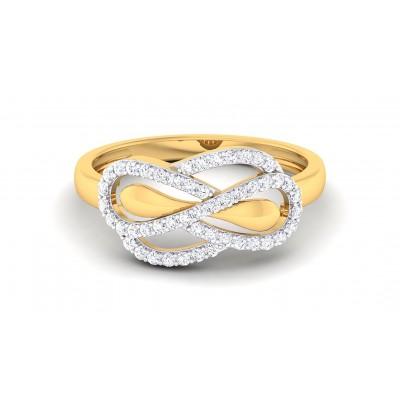 ZUHA DIAMOND CASUAL RING in 18K Gold
