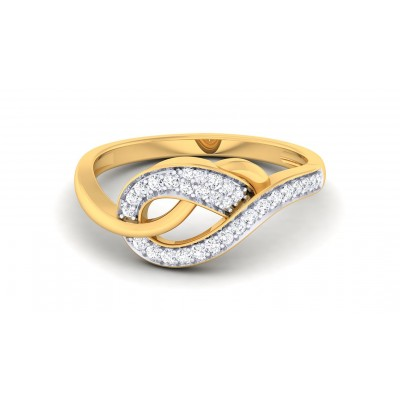 ANSHI DIAMOND CASUAL RING in 18K Gold