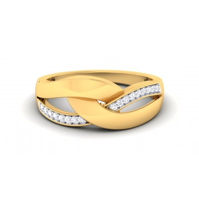 SNEHI DIAMOND BANDS RING in 18K Gold