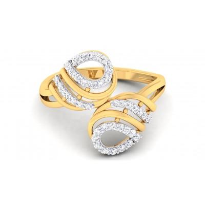 LEORA DIAMOND COCKTAIL RING in 18K Gold