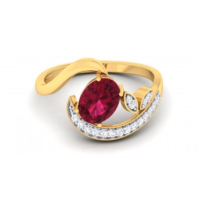 TAMIA DIAMOND COCKTAIL RING in Ruby & 18K Gold